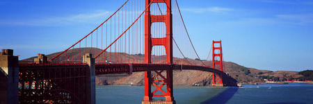 suspension bridge in california